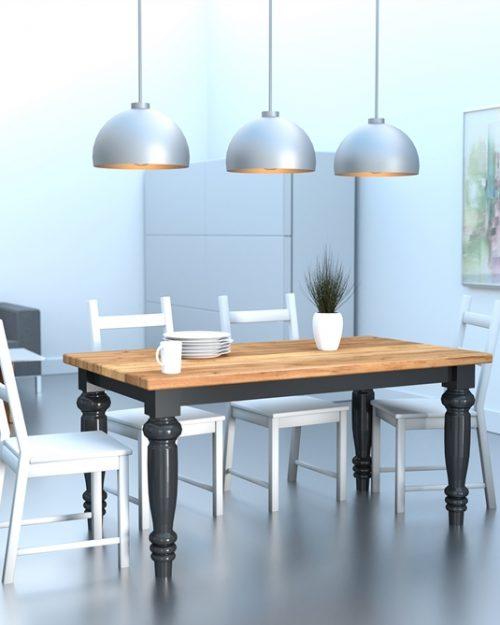 Elegancki stół wykonany z drewna do kuchni