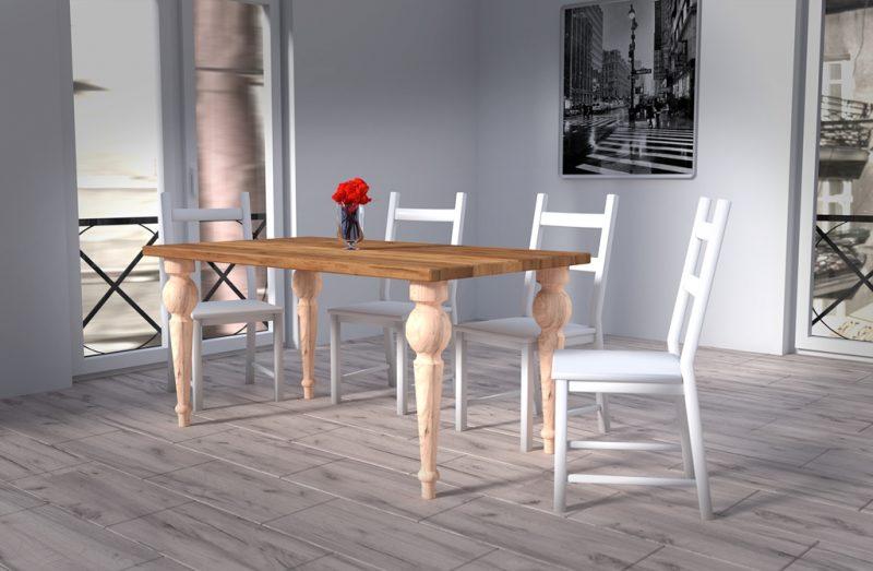Jesionowy stół wykonany pod indywidualne zamówienie