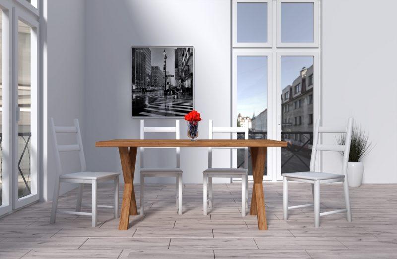 Masywny stół drewniany do domu