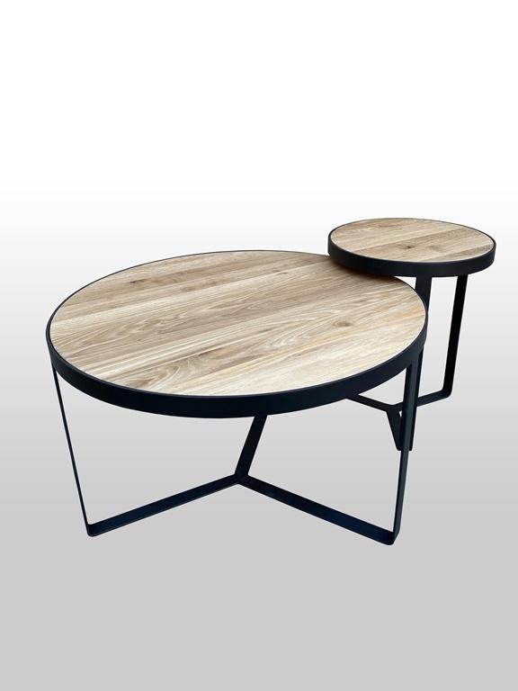 Okrągły stolik kawowy 2w1