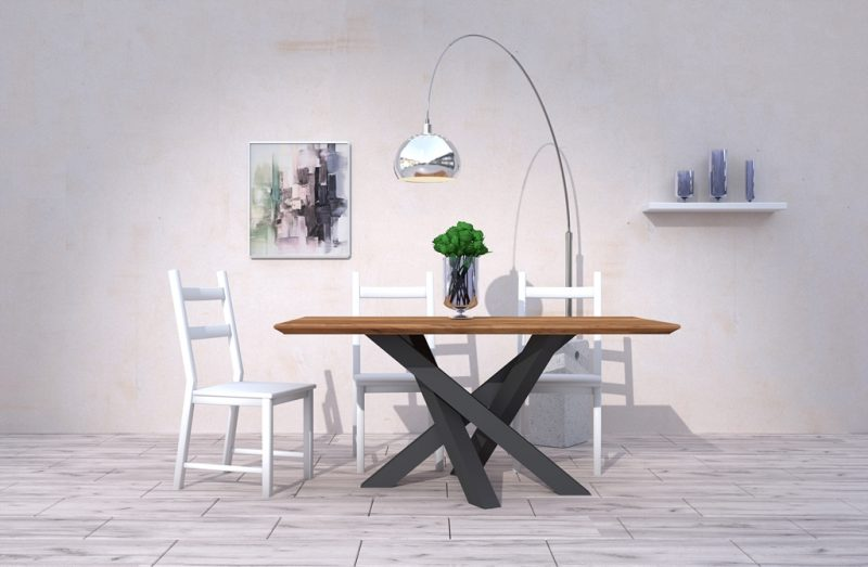 Niepowtarzalny stolik do mieszkania wykonany z drewna