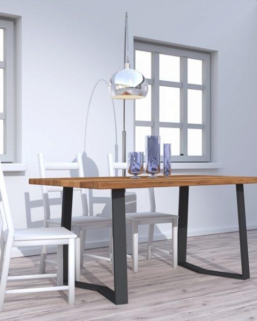 Stół wykonany z drewna do jadalni