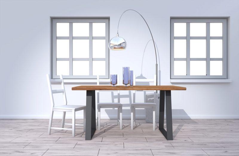 Stolik z drewna w stylu skandynawskim