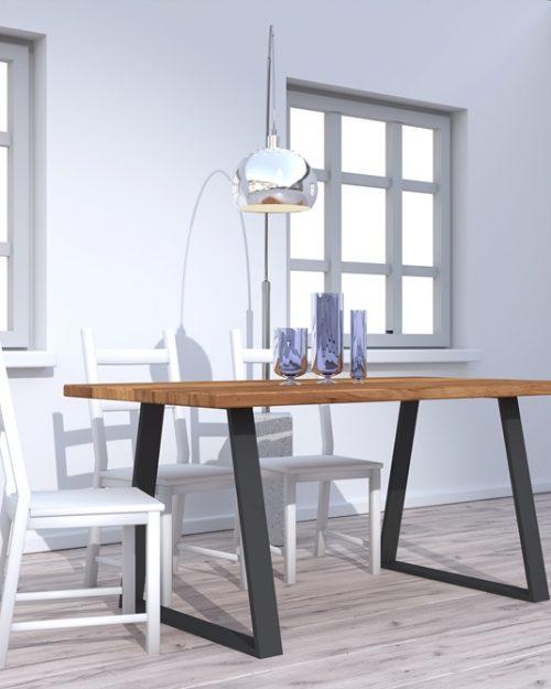 Stół o funkcjonalnej konstrukcji