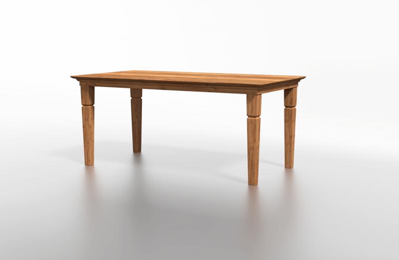 Stolik drewniany o delikatnej bryle idealny do mieszkania