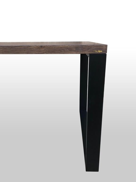Czarna metalowa noga do stołu