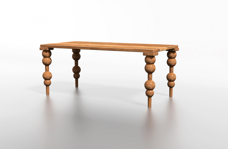 Stolik z rzeźbionymi nogami
