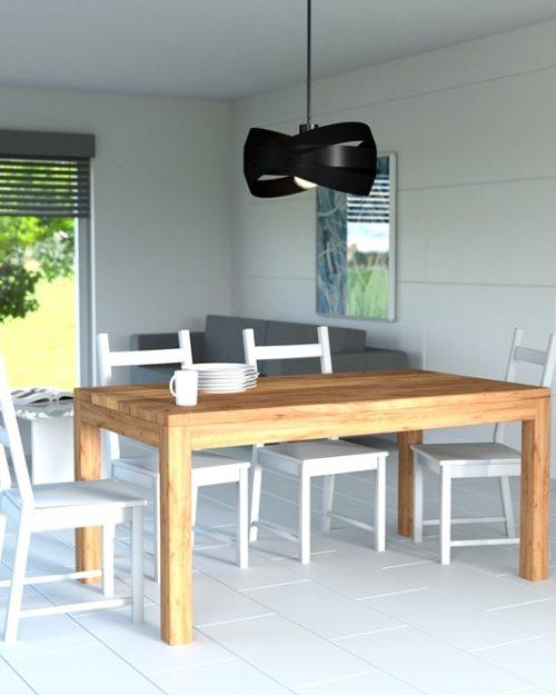 Prosty stół drewniany do salonu