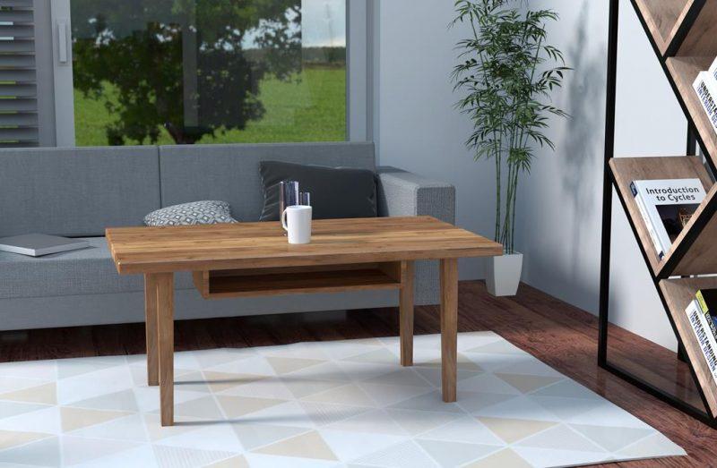 Stolik kawowy drewniany do mieszkania