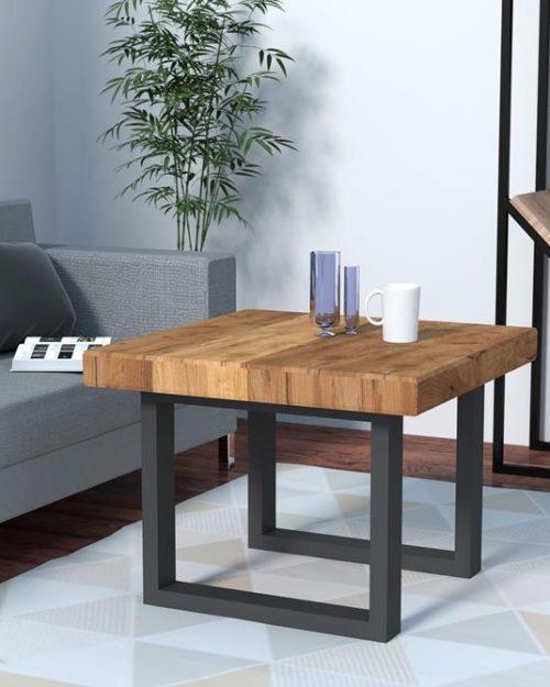 Stolik kawowy z drewna do salonu