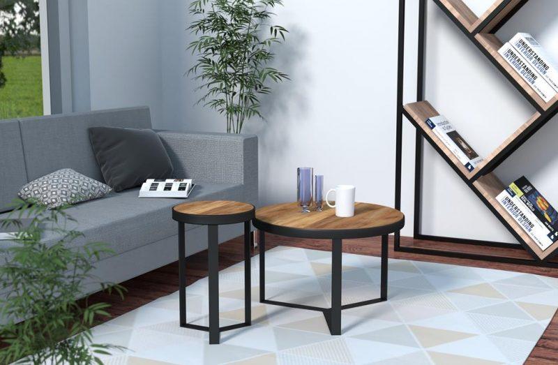 Nowoczesna ława z drewna do salonu